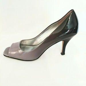 TAHARI RIDDLE Pumps Ombre Gray Open Toe Heels Dres